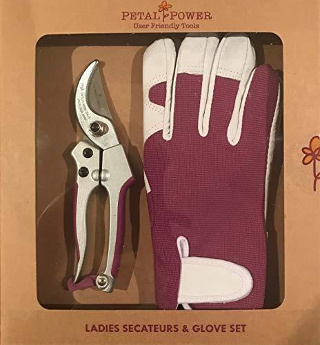Señoras guantes de piel Para jardinería (pequeño) y agarre de pequeñas Tijeras de podar (perfecto para manos pequeñas)-regalo Ideal de jardín para las mujeres