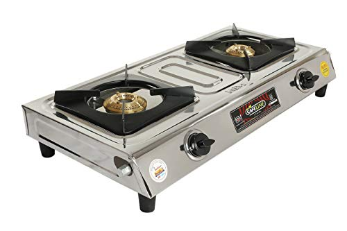 Safeline Duo 2 Burner Stainless Steel Manual Ignition Gas Stove - 1 Year Warranty