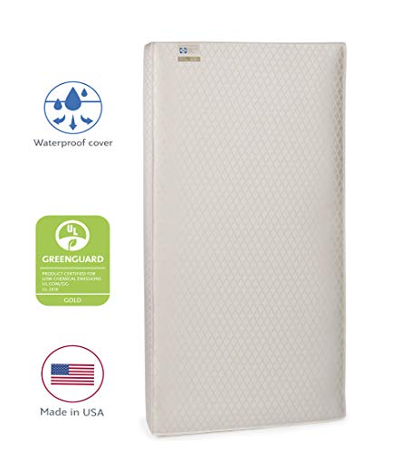 Sealy EverLite 2-Stage Lightweight Foam Infant/Toddler Crib Mattress with Firmer Side, Waterproof Barrier and Soft Cotton Cover, 52 x 28 Inch