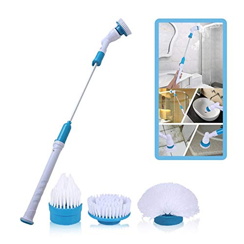 GOSFRID with GF LOGO Plastic Electric Long Handle Cleaning Brush Household Cleaning Tool (Blue)