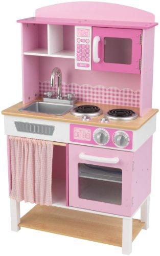 KidKraft 53198 Cucina Giocattolo in Legno per Bambini Home Cookin' - Rosa