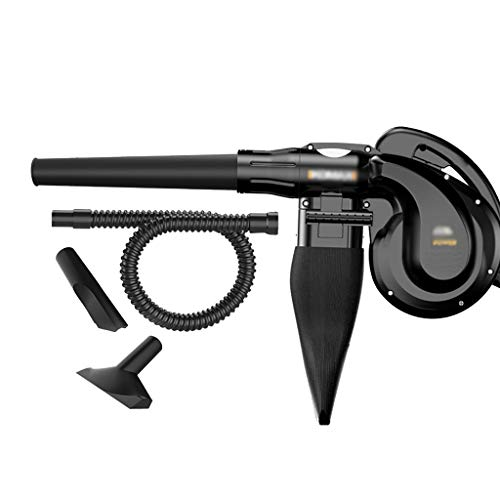 Blowers - Secador de Pelo eléctrico portátil de Hoja,Control de Velocidad de 6 Engranajes y Bolsa de Polvo,para jardín,hogar y Garaje,Puede Usar como aspiradora,soplador pequeño Industrial el hogar