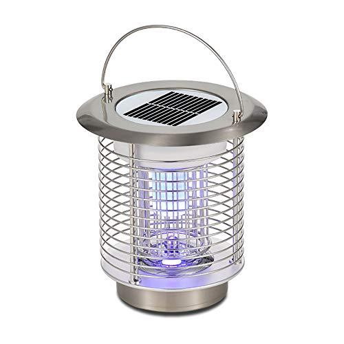 OYDA Mosquito Luce Solare Portatile, Portatile Scossa elettrica LED casa di Campeggio Esterna Ranch Park Farm Repellente della zanzara-brightsilver