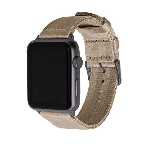 Archer Watch Straps   Cintura di Sicurezza Cinturino Ricambio di Nylon per Apple Watch   Cinturino per Uomo e Donna   Kaki/Grigio Siderale, 42mm
