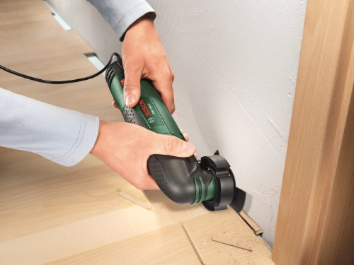 Great for cutting flooring - Bosch PMF 190 E Multifunction Tool with Cutting Discs, Saw Blades and Sander Sheets