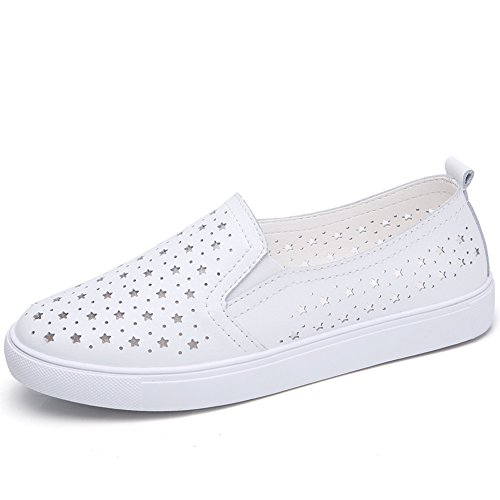 6e7dd504f7e HKR Summer Women Loafers Slip On Sneakers Comfort Ladies Leather Work  Driving Flats Shoes - SixtySomething - Over Sixty Lifestyle Magazine