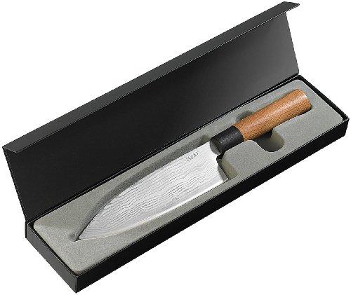 TokioKitchenWare Damast-Kochmesser mit 20 cm Klinge
