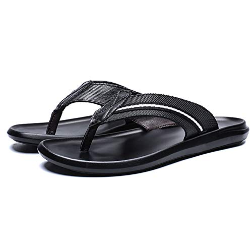 DierCosy Uomini Pelle Flip Flop Nastro Sandali Infradito estive Scarpe a Punta della Clip all'aperto...