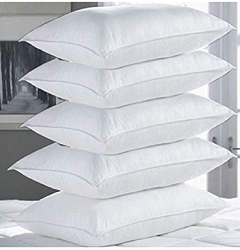 "PumPum Hollow Fibre Filled 5 Piece Pillow Set - 17"" x 27"", Antique White"