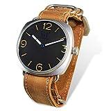 WT WARTIME Unisex Uhr analog Mecanic Movement mit Leder Armband Gamma Marina Real Italiana