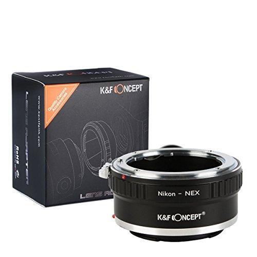 K&F Concept® Nikon-NEX Objektiv Adapter Objektiv Adapterringe für Nikon AI AI-S F Objektiv auf Sony E-Mount Kamera