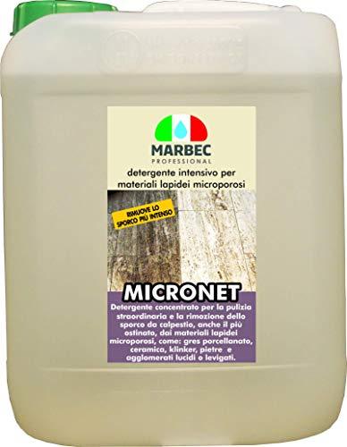 Marbec - MICRONET 5LT   Detergente intensivo per la rimozione dello Sporco ostinato su gres...