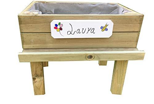 Tavolo da coltura (orto urbano), kit per bambini, 60x 40x 55cm