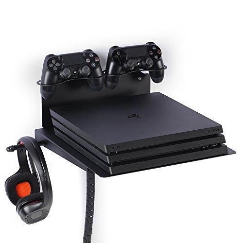 Borangame Supporto Orizzontale da Parete Universale per Playstation 4 e Xbox in Ferro Verniciato a...