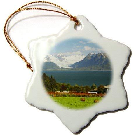 Owen Cocker - Bays - Kachemak bay, Kenia Mountains, Homer, Alaska, USA - US02 MHE0044 - Michel Hersen - Ornamenti - Fiocco di Neve 7,6 cm