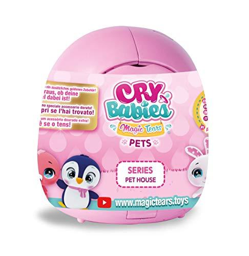 IMC Toys 91085 - Cry Babies Magic Tears Casetta Cuccioli, Modelli / Colori assortiti