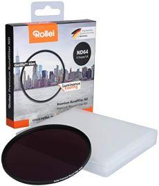 Rollei Premium Round Filter ND 64 Stopper 62 mm - Filtro de densidad neutra con anillo de aluminio de vidrio Gorilla con revestimiento especial - ND64 (6 paradas / 1,8)