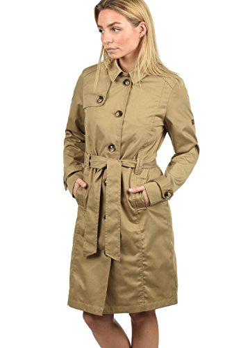 Desires Thea Giacca Trench Coat Transitorio da Donna con cinturaCollo con Revers, Taglia:XL, Colore:Sand (4073)