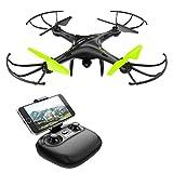 Potensic U42W Drone con Telecamera HD,  Actualizado Wifi FPV 2.4GHz 4CH 6-Axis Gyro RC Quadcopter Drone Videocamara RTF Suspension de Altura UFO Prima Hover, Modo sin Cabeza, Flip 3D