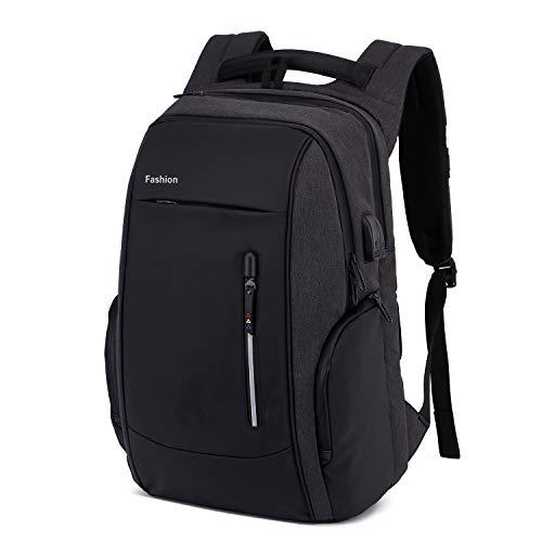 Xnuoyo Laptop Zaino Antifurto, 17.3 Pollici Impermeabile Zaino Porta PC con Porta USB di Ricarica...