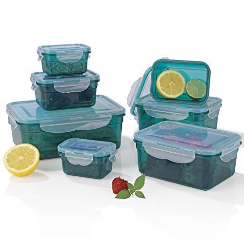 Gourmetmaxx 02914 Contenitori klick-it | Adatto a microonde, congelatore e lavastoviglie |...
