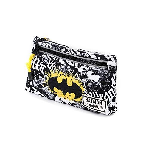 Batman Tagsignal-Flach Federmäppchen Astuccio, Grigio, poliestere