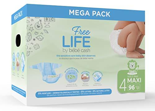 Freelife Bebe Cash Pannolini Maxi Taglia 4 (7-18 kg) - 96 Pannolini