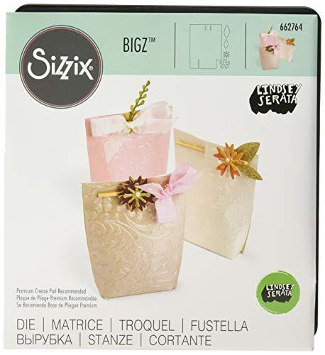 Sizzix Bigz die-box floreale Gift by Lindsey serata, legno/acciaio/plastica,, 17.3x 14x 1.9cm