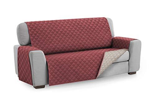 textil-home Salvadivano Trapuntato Copridivano Malu 2 posti Reversibile. Colore Rosso