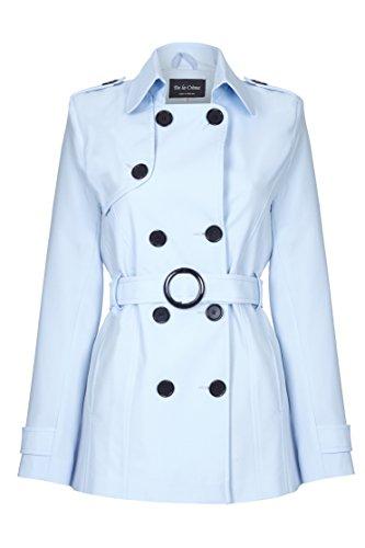 De La Creme - Trench coat da donna con cinturino in lana Azzurro taglia 44