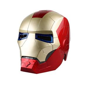 QWEASZER Máscara de Cosplay de la Serie Legends de Marvel Legends Iron Man de Avengers Marvel Legends Carnaval y Halloween - Accesorios de Disfraces para Adultos - ABS, Unisex,Iron Man-OneSize