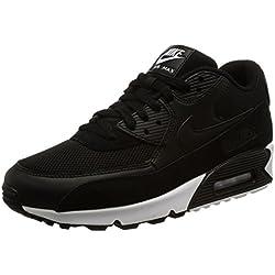Nike Air Max 90 Essential, Zapatillas Hombre, Negro (Black/Black/White 077), 44 EU