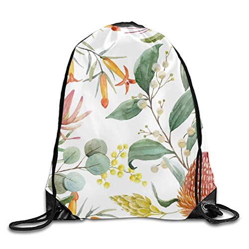 Etryrt Coulisse Sacchetto,Sacca Coulisse Zaino,Sacca Sportiva, Australian Banksia Sackpack...