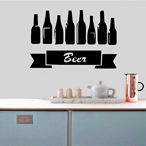 ganlanshu Nuevo listado Cerveza Vino Pegatinas de Pared decoración del hogar Accesorios para el hogar Sala de Estar decoración Cocina Estilo nórdico decoración del hogar 28 cm x 41 cm