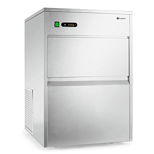 Klarstein macchina per cubetti ghiaccio industria - Ice Maker, 50 kg/24 h, 240 watt, Paletta, Tubo,...