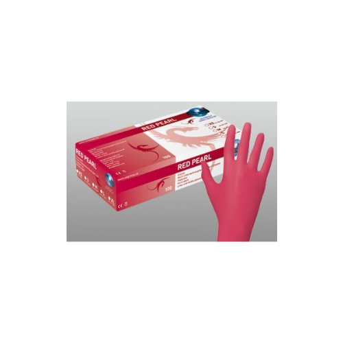 Unigloves Powder free nitrile–rosso–Red Pearl–Confezione da 100(dimensioni:...