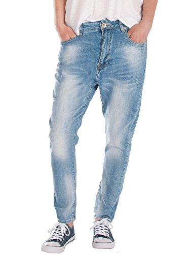 Fraternel Damen Jeans Hose Boyfriend Baggy used relaxed fit Hellblau...