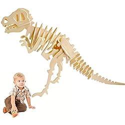 Beito Rompecabezas de Puzzle de Rompecabezas de Madera Rompecabezas de Rompecabezas de la Asamblea de Dinosaurios 3D Juguete de Rompecabezas para niños y Adultos-Tyrannosaurus Rex