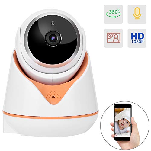 Security Camera, Wireless 1080P WiFi IP Surveillance Cam with Night Vision, Two-Way Audio, Motion Detection, Monitor for Baby/Elder/Pet (Yellow)
