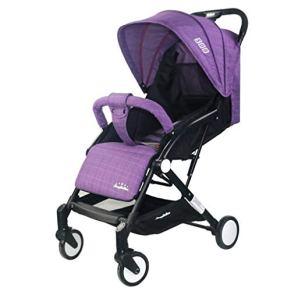 WYXYETC Cochecitos Cochecito, Reclinable, Se Puede Subir, Carro Plegable Portátil De Cuatro Ruedas ( Color : Purple )