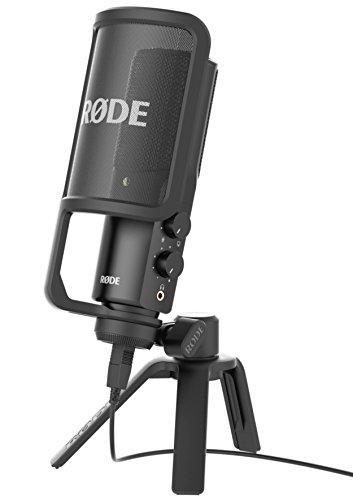 Rode NT-USB Microfono a Condensatore con Filtro Anti-pop e Supporto da Tavolo, Compatibile con iPad,...