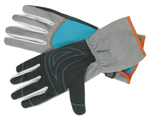 GARDENA Strauchpflegehandschuh: Gartenhandschuhe für Arbeiten mit dornigen Sträuchern/Pflanzen, Größe 9/L, optimaler Tragekomfort, lange Stulpen, robuste Materialien zum Schutz der Hände (218-20)