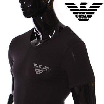 Camiseta-Interior-E-Armani-Negra-Cuello-en-V