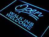 ADV PRO j398-b Open Walk Ins Welcome Barber Shop NEW Light Sign