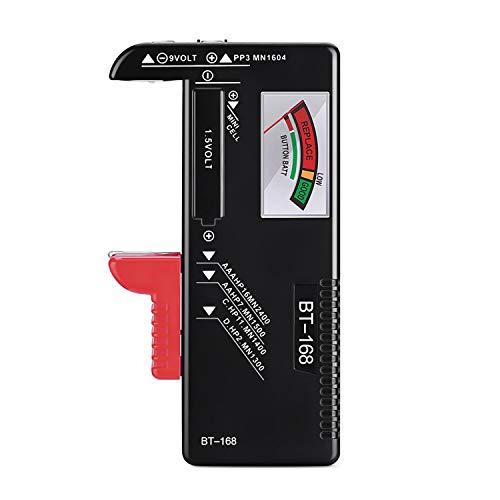 unibelin Batterietester, Batterie Testgerät BT-168 Akku Testgerät Universal Batterieprüfergerät für AAA AA C D 1.5V 9V Knopfzellen und Andere Batterie Typen