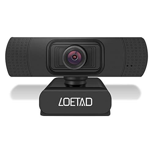 LOETAD Webcam PC HD 1080P Telecamera PC con Microfono Stereo per Video Chat e Registrazione, Compatibile con Windows, Mac e Android