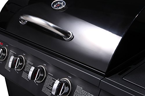 CosmoGrill 4+1 Gas Burner Garden Grill BBQ Barbecue has 4 gas burners and thermometer