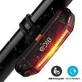 Luz Trasera para Bicicleta Recargable USB, Super Brillante Rojo Luz LED Bici de 100 Lúmenes, Impermeable, 180 ° Faro Trasero Bici para Máxima Seguridad de Ciclismo