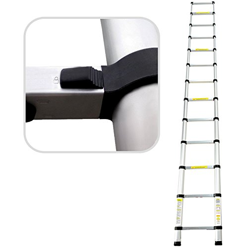 Todeco telescopic ladder fully extended to 3.8 meters - 12.5ft