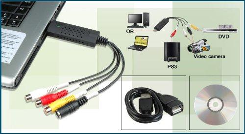 AlexVyan USB 2. 0 Easycap DC60-008 Tv Dvd VHS Video Adapter Audio AV Capture Support 17